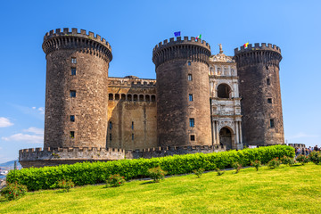 Photo sur Plexiglas Naples Castel Nuovo castle, Naples, Italy