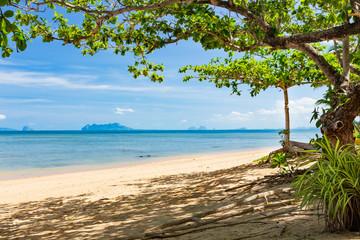 Empty beach on the island of Koh Libong, Thailand