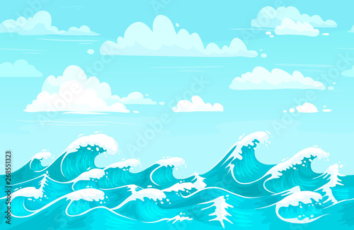 Ocean Waves Backdrop Sea Water Storm Wave And Aqua