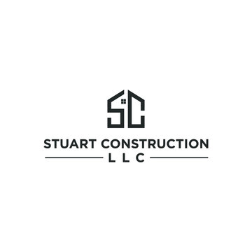 Letter S and C Initial Logo / Construction and Real Estate Design Inspiration