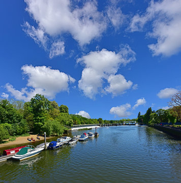 Teddington Locks and Weir on the Thames Path from Teddington Lock Footbridge