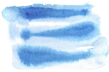 Printed roller blinds Fantasy Landscape Sky blue background with overflows, waves and swirls, similar to the depths of the sea. Watercolor hand drawn abstract illustration
