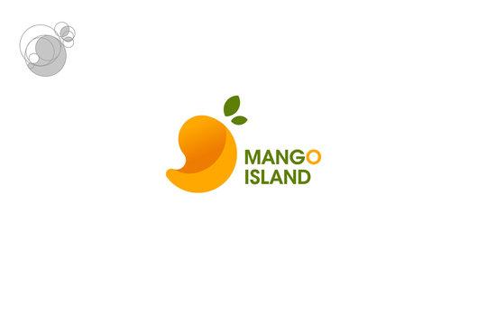 logo mango built on geometric shapes