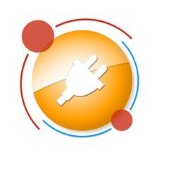 Fototapeta okrągły baner z ikoną