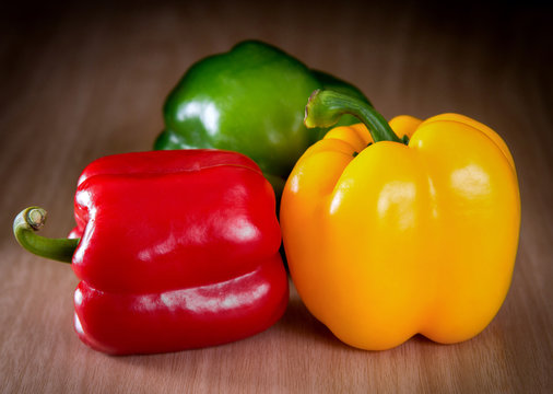 green red and yellow pepper