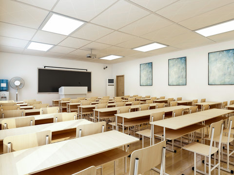 Modern school classroom interior design