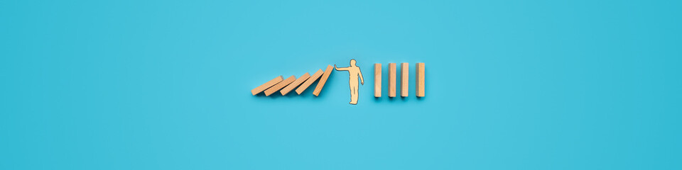 Business crisis intervention concept