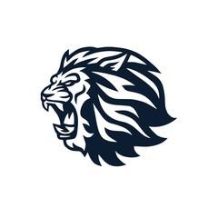 Fototapeta Lion Head Roaring Logo Mascot Vector Design Illustration
