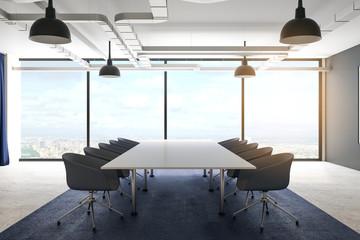 Clean meeting room