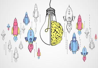 Startup, brainstorm and idea concept