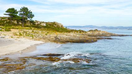 Cies Islands. Natural paradise in Galicia.Spain