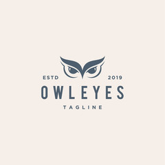owl eyes illustration vector logo design