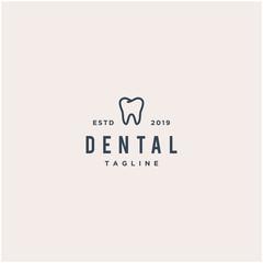 simple dental vector logo design