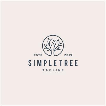 simple tree vector logo design
