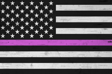 American thin pink line flag Fototapete