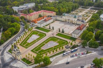 Obraz Pałac Branickich z lotu ptaka, Białystok - fototapety do salonu
