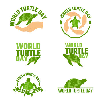 World turtle day campaign-vector illustration background