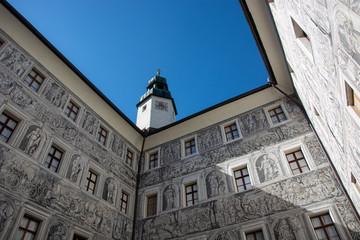 Wall Mural - Innenhof Schloss Ambras in Innsbruck, Tirol / Österreich