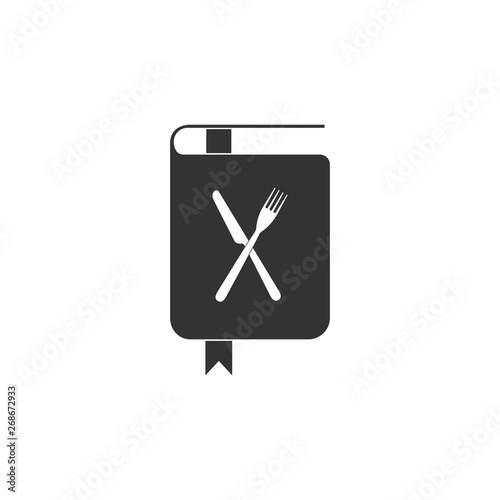 Cookbook icon isolated  Cooking book icon  Recipe book  Fork