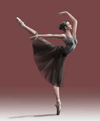 young dancer in black dress