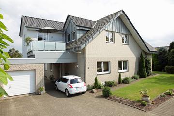 Einfamilienhaus Haus zuhause Klinker modern