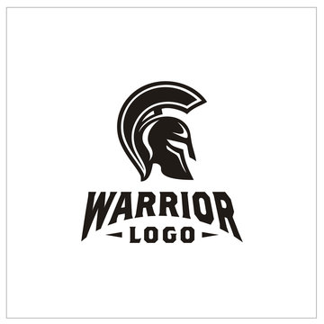 Spartan Warrior Helmet / Sparta Mask logo design