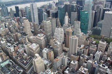Ariel view on Manhattan.New York.USA. Beautiful background.