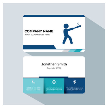 baseball business card template set