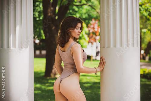 Sexy girl big butt nude bent over