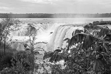 Monochrome Iguazu Falls, Argentina Side