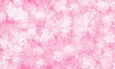 Pink background with flowers pattern