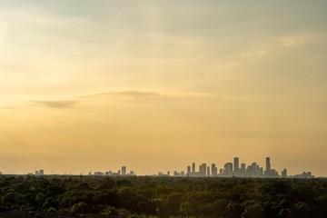 Sunset over Houston