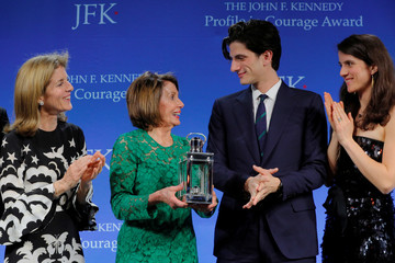 U.S. House Speaker Pelosi accepts the 2019 Profile in Courage Award at the Kennedy Presidential Library in Boston