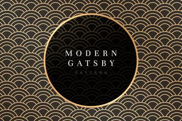 Gatsby patterned frame