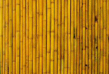 yellowish brown of bamboo wall
