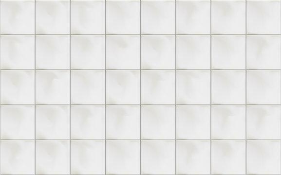 Vector illustration of horizontal square white marble ceramic tiles.