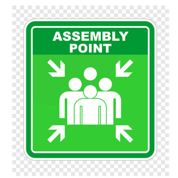 assembly point, sign vector