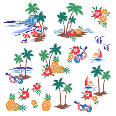 I made Hawaiian shore scenery an illustration,