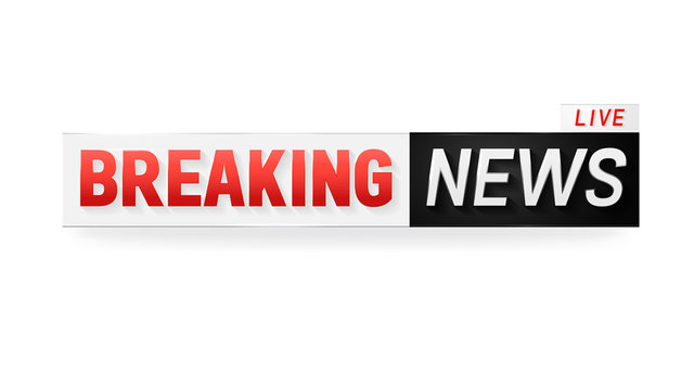 Live breaking news banner for broadcasting television show