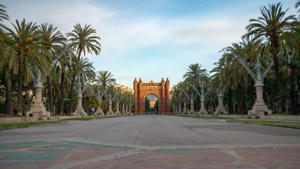 Foto auf Acrylglas Barcelona The Arc de Triomf is a triumphal arch in the city of Barcelona in Catalonia, Spain