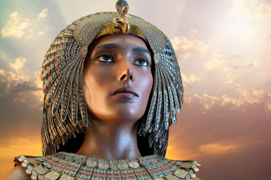 Cleopatra Egyptian Queen VII century of Egypt 3D render