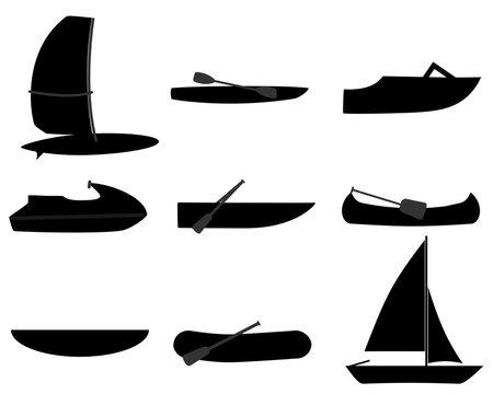 Piktogramm verschiedene Boote