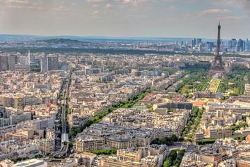 Poster de jardin Paris Paris cityscape from above