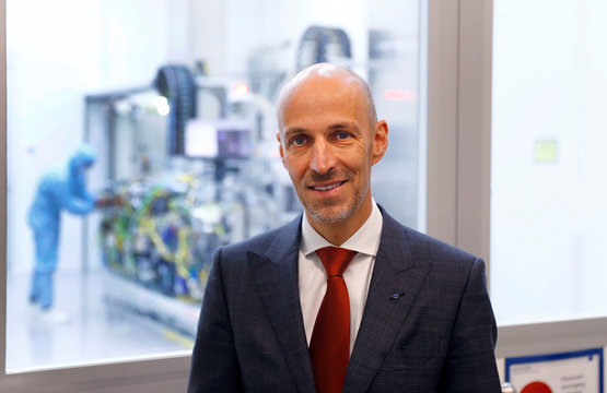 Peter Leibinger CTO of Trumpf, a hidden Champion of the German Mittelstand that supplies CO2 laser technology to Dutch ASML and the leader of semiconductor lithography machines, poses for a picture at the Trumpf headquarters in Ditzingen