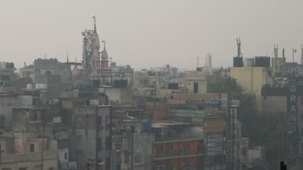 City of New Delhi air pollution smog