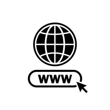 Www. Internet icon. Www search bar icon. Website icon