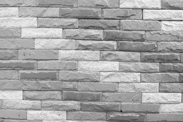 black and white brick wall texture background