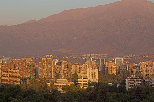 Cityscape of Santiago, Chile