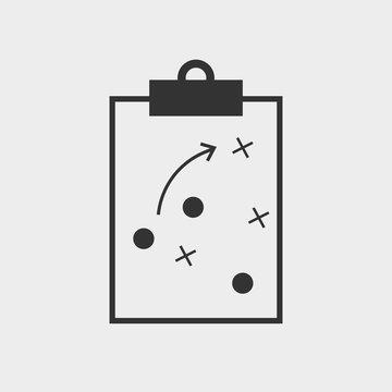 Strategy clipboard vector icon solid grey