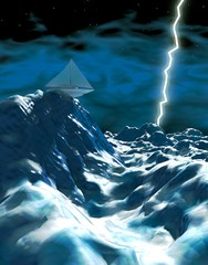 Sea storm • Seastorm • Lightning
